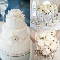 White Wedding Ideas with Elegance - MODwedding
