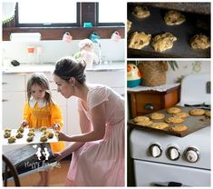 Baking cookies in the 50s Vintage Styled Session 50s inspired