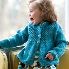 Classic Elite Yarns Princess Child's Smocked Cardigan (Free) in Cardigans at Webs Knitting Patterns Free, Free Knitting, Baby Knitting, Crochet Patterns, Free Pattern, Knitting Ideas, Crochet Ideas, Baby Girl Patterns, Kids Patterns
