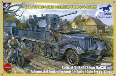 Maquette - Kit Sd.Kfz.6/2 (BN9) 3.7cm FlaK36 auf Fahrgestell Zugkraftwagen - BRONCO CB35043