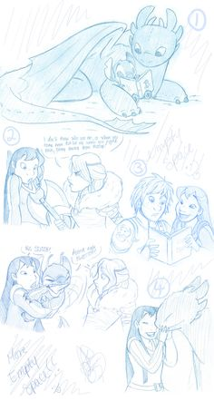 HTTYD and LS sketches by jackfreak1994