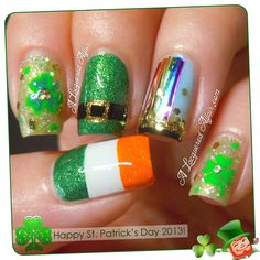 St. Patrick's Day nails from A Lacquered Affair.
