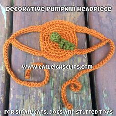 Calleigh's Clips & Crochet Creations: Free Crochet Pattern : Decorative Pumpkin Headpiece for Small Cats, Dogs or Stuffed Toys