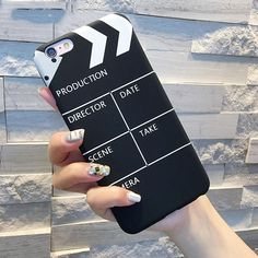 New Movie Clapperboard Pattern For Iphone 5 SE 6 7 Plus Half- Wrapped Phone Cases Hard Phone Back Covers Shell Shop Cell Phone Covers, Diy Phone Case, Cute Phone Cases, Iphone 6 Plus Case, Iphone Phone Cases, Iphone Case Covers, Aesthetic Phone Case, Coque Iphone 6, Cool Cases