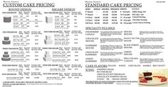 Please read these helpful tips when ordering your cake. It is important to know that the price you see for each cake may not be the price you pay because it varies by serving size. Home Bakery Business, Baking Business, Cake Business, Business Ideas, Wedding Cake Prices, Fall Wedding Cakes, Wedding Vows, Cupcakes, Cupcake Cakes