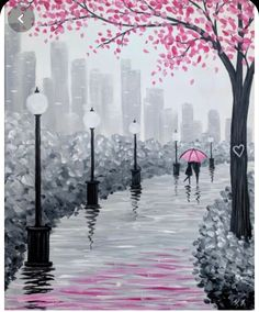 Join us for a Paint Nite event Wed Feb 2019 at 340 Hartz Avenue Danville, CA. Purchase your tickets online to reserve a fun night out! Easy Landscape Paintings, Simple Canvas Paintings, Small Canvas Art, Easy Canvas Painting, Diy Canvas Art, Blank Canvas, Oil Pastel Art, Oil Pastel Paintings, Tree Paintings
