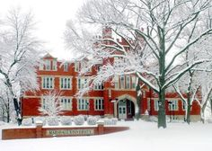 A Snow Covered Marshall University in Huntington, WV