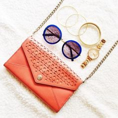 HP! Rebecca Minkoff Orange Crossbody This crossbody is perfect for spring and summer! The flaws are shown above. 5in. x 8in.  ✅Reasonable offers welcome! ✅BUNDLE DISCOUNTS! No trades/paypal/other apps. No lowball offers. Rebecca Minkoff Bags Crossbody Bags