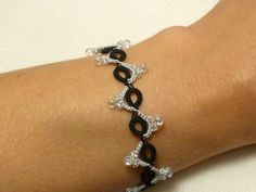 Tatted Lace Bracelet - Serpentine MTO in your color choice