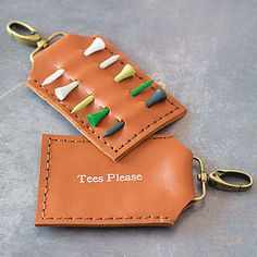 Personalised Leather Golf Tee Holder - view all father's day gifts