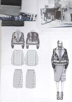 Fashion Sketchbook - fashion design drawings, research & fabrics; fashion portfolio; creative process // Amy Dee