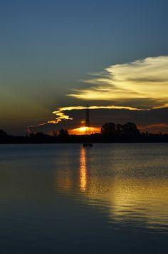 Por do Sol - Lago Dourado