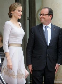 MYROYALSHOLLYWOOD FASHİON:  Spanish State Visit to France, July 22, 2014-Queen Letizia and President Françoise Hollande