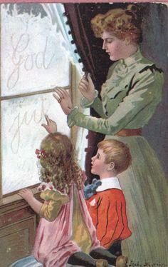 Vintage Christmas card from Sweden. Illustrator: Jenny Nyström.