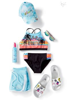 set for a surfside adventure!All set for a surfside adventure! Cute Girl Outfits, Kids Outfits, Cool Outfits, Summer Outfits, Tween Fashion, Fashion Outfits, Justice Clothing, Justice Clothes For Girls, Justice Outfits