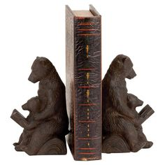 These bear bookends are the perfect addition to your bookshelf, desk, or table in a library, den or cabin. These bear bookends make the perfect. Precious Book, Home Office Decor, Home Decor, Sculpture, Book Nooks, Joss And Main, Accent Decor, Bookends, Things To Come