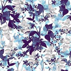 Blue and Taupe Abstract florals @patternbank http://ift.tt/1VdAkOJ IG @luiza_cazal by patternbank