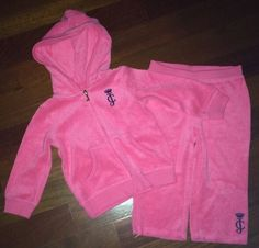 Juicy Couture Toddler Girl Basic Jog Set 2pc Jacket Pants Size 18 Months $67 99 | eBay