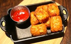 Bacon cheddar tots? Yes, at Public School 404. Photo: David Danzing