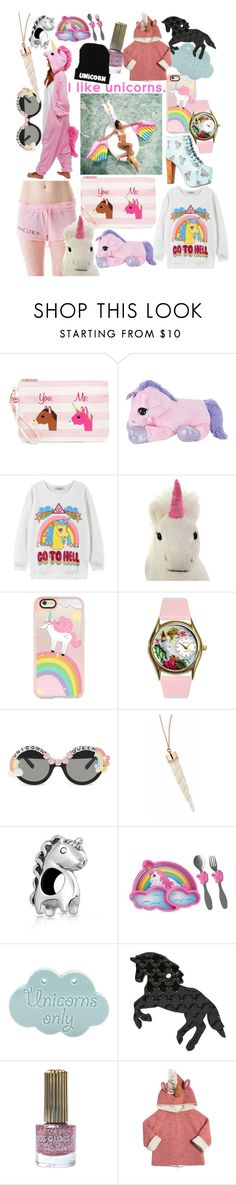 """""""unicorns"""" by alethemermaid87 ❤ liked on Polyvore featuring Betsey Johnson, Wildfox, Jeffrey Campbell, Chicnova Fashion, Casetify, Rad+Refined, Bling Jewelry, Floss Gloss and Oeuf"""