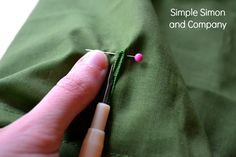 Sewing Tip: Pin the Button Hole | Simple Simon and Company  Keep from ripping your new hole a new hole