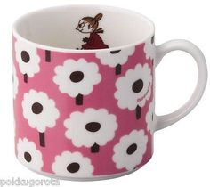 Moomin Valley Mug Cup Yamaka Flower series Little by Tove Moomin Valley, Tove Jansson, Ceramic Design, Mug Cup, Ceramics, Mugs, Tableware, Flowers, Ebay