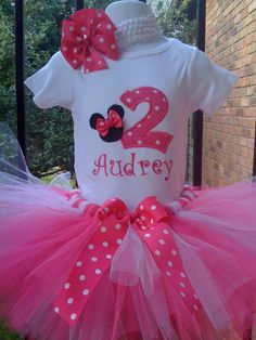 Minnie birthday tutu. For more great birthday party ideas and decorations visit Get The Party Started on Etsy at www.GetThePartyStarted.Etsy.com