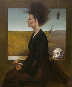Andrea Kowch, US contemporary symbolist painter who creates often dark dreamlike artworks Vanitas, Memento Mori, Magic Realism, Realism Art, Southwest Art, Pop Surrealism, Magazine Art, American Art, Female Art