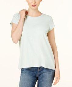 Eileen Fisher Crew-Neck T-Shirt - Green XXS