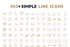 Free 450+ Simple Oultine Icons