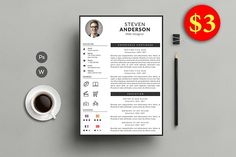 Professional Resume by Creative Templates on @Graphicsauthor
