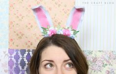 The Craft Blog - DIY Dovecraft Felt Rabbit Ears Headband Tutorial