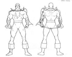 Shazam/ Captain Marvel design for Justice League International by Kevin Maguire.