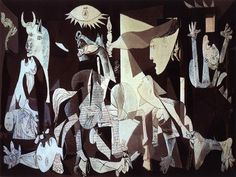 In Spanish artist Pablo Picasso completed one of the great artworks of the century; Guernica, his epic take on the horrors of w. Pablo Picasso Artwork, Picasso Guernica, Kunst Picasso, Art Picasso, Picasso Paintings, World Famous Paintings, Famous Art Pieces, Famous Artwork, Famous Artists