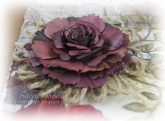 Update March I now have a video tutorial for Girlie Grunge Twine Flowers showing how to create the loom and twine flower using Donna. Twine Flowers, Paper Flowers Craft, Flower Crafts, Diy Flowers, Crochet Flowers, Brown Paper Packages, Simple Gifts, Ribbon Crafts, Fabric Flowers