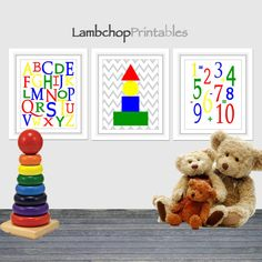 Hey, I found this really awesome Etsy listing at https://www.etsy.com/listing/178777179/abcs-and-123s-primary-colors-childrens
