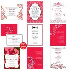 red wedding invitations as low as $1.04