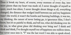 """an excerpt from """"Extremely Loud and Incredibly Close"""" by Jonothan Safran Foer"""