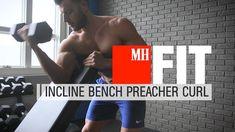 Incline Bench Preacher Curl