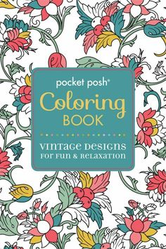 Pocket Posh Adult Coloring Book Vintage Designs F
