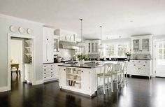 Love, love James Radin-interior designer for real homes and movie set homes. This is the kitchen from Something's Gotta Give.