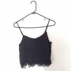 Lace crop top Very comfortable and easy to pair! The thin straps are ❤️❤️❤️ ❤️ I do bundles and negotiate prices❤️ *not from urban, just tagged that for exposure* Urban Outfitters Tops Crop Tops