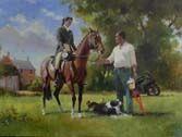 Equestrian Portrait by Michael Alford