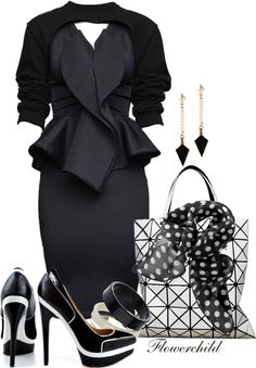 """""""All Business"""" by flowerchild805 ❤ liked on Polyvore"""