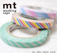 MT Bright Colors & Stripes Slim Washi (MT-165)