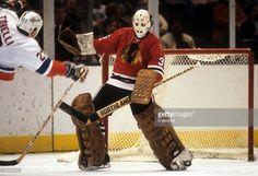 goalie-tony-esposito-of-the-chicago-blackhawks-looks-to-make-the-toe-picture-id127487191 (1024×700) Hockey Room, Goalie Mask, Chicago Blackhawks, Hockey Players, Nhl, 1930s, Athlete, Masks, Classy