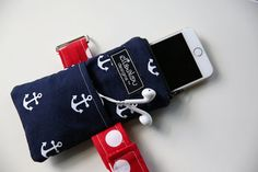 iPhone Cellphone Armband Anchors Away by ElisaLou on Etsy