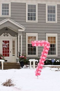 Birthday party idea - put the age of the child in the front yard for birthday guests to see.