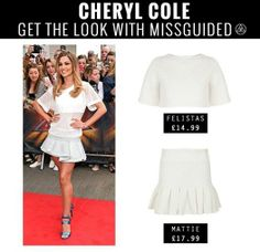 Get #CherylCole's X-Factor look! Go all white in the #Missguided Felistas Crop + Mattie Skirt #OOTD #Style