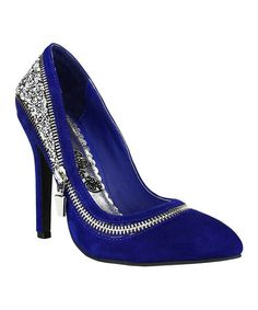 Look what I found on #zulily! Blue All I Want Is You Suede Pump by Naughty Monkey #zulilyfinds